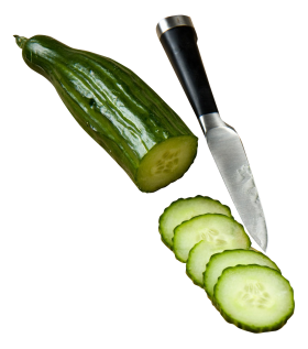 Cucumber With Knife