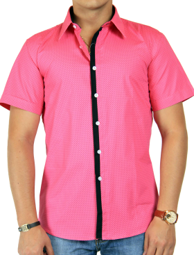 Dot Printed Pink Half Shirt