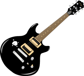 Electric Guitar Black