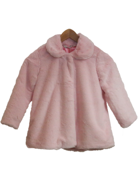 Faux Fur Coat Short Pink