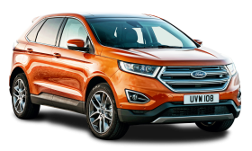 Ford Edge Orange Car