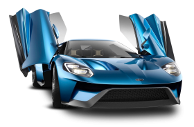 Ford Gt Blue Car