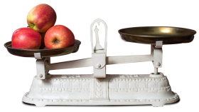 Fresh Apple in Weight Scale