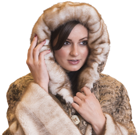 Fur Coat Hooded