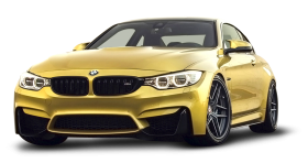 Gold BMW M4 Car
