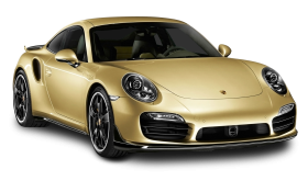 Gold Porsche 911 Turbo Aerokit Car