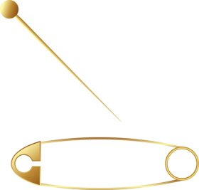 Golden Brooch  Pin  Safety Pin's