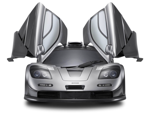 Gray 1997 McLaren F1 GT Car