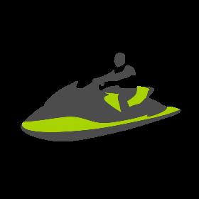 Green Jet Ski