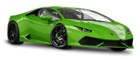 Green Lamborghini Huracan Car