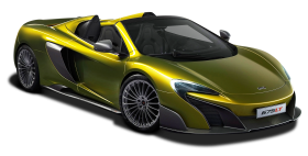 Green McLaren 675LT Spider Super Car