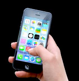 Hand Holding Apple iphone