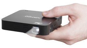 Hand Holding Pocket Projector