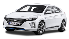Hyundai Ioniq White Car