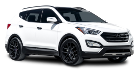 Hyundai Santa Fe White Car
