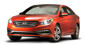 Hyundai Sonata Red Car