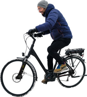Is Winter Cycling His Electric Bike