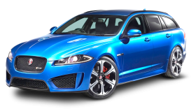 Jaguar XFR Sportbrake Blue Car