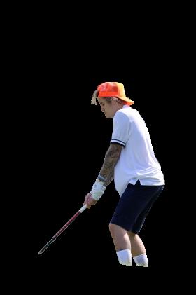 Justin Bieber Golfing