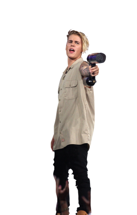 Justin Bieber Holding Gas Canone