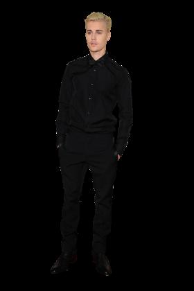 Justin Bieber in Black
