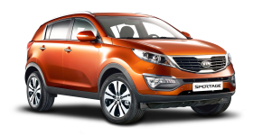 Kia Sportage 3 Orange Car