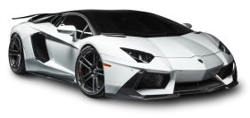 Lamborghini Aventador LP White Car