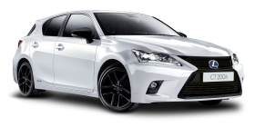 Lexus CT 200h White Car