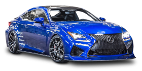 Lexus RC F Blue Car