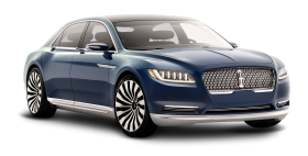 Lincoln Continental Blue Car