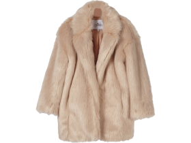 Little remix Jr Fur Coat Cardy