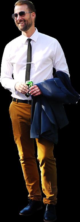 Man Standing Suit