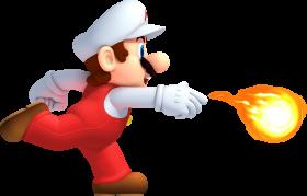 Mario Running Fire