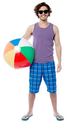 Men With Beach Ball