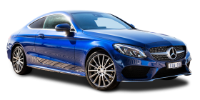 Mercedes Benz C Class Blue Car