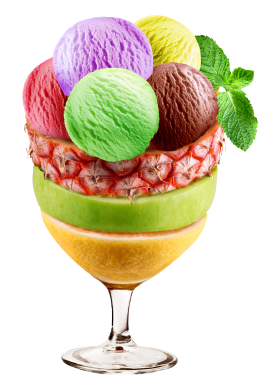 Mixed Ice Cream In Sundae Cup