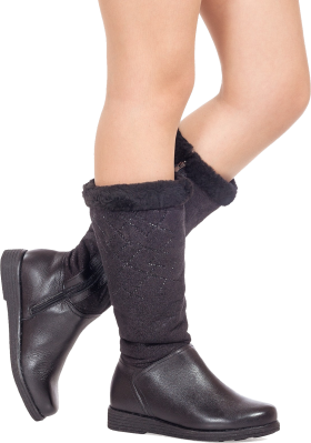 Nice Black Leather Ladies Boot