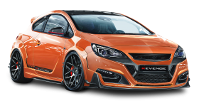 Opel Astra GTC Revenge Orange Car