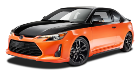 Orange and Black Scion tC Sports Car