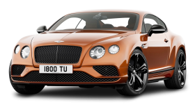 Orange Bentley Continental GT Speed Car