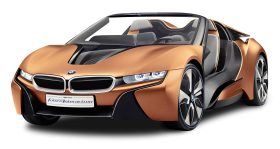 Orange BMW i8 Spyder Car