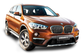 Orange BMW X1 Car