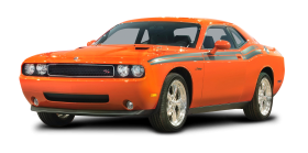 Orange Dodge Challenger RT Car
