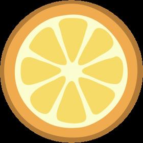Orange Halved Flat Design