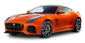 Orange Jaguar F Type SVR Coupe Car