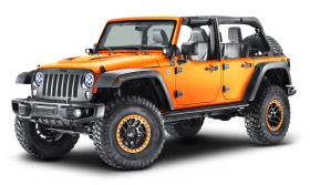 Orange Jeep Wrangler Car
