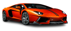Orange Lamborghini Aventador Coupe Car