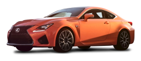 Orange Lexus RC F Car