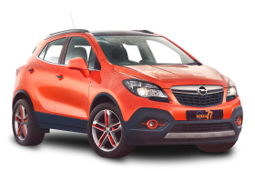 Orange Opel Mokka Car