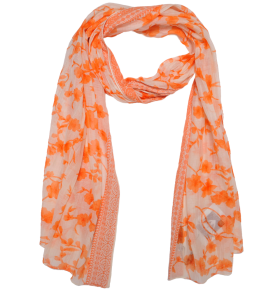 Orange Printer Scarf